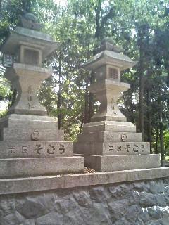 奈良そごうの石灯籠